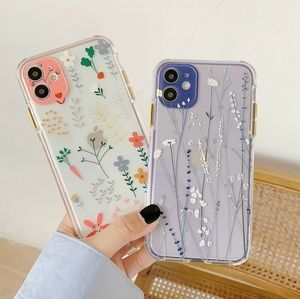 Iphone 11, 12, 12 Pro Max Case floral Shockproof